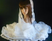 Cathedral Lace Wedding Veil-Pearl,Sequin Bridal Veil