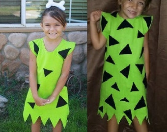 Pebbles dress green but can be orange or pink