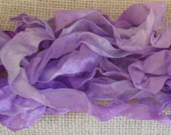 Hand Dyed Seam Binding Ribbon Lavender