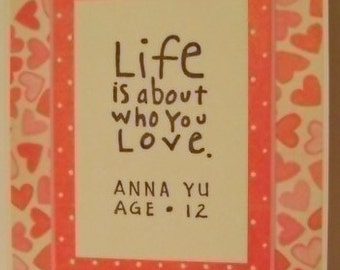 Life and Love Valentine note card
