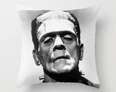 Frankenstein Throw Pillow Spooky Horror Film Halloween Home Decor
