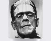 Halloween Shower Curtain: Frankenstein | 12 Eyelet/Button Hole | Size and Pricing via Dropdown