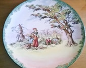 """Royal Doulton Old English Scenes """"The Gleaners"""" 15.25"""" Serving Platter / Wall Hanging"""