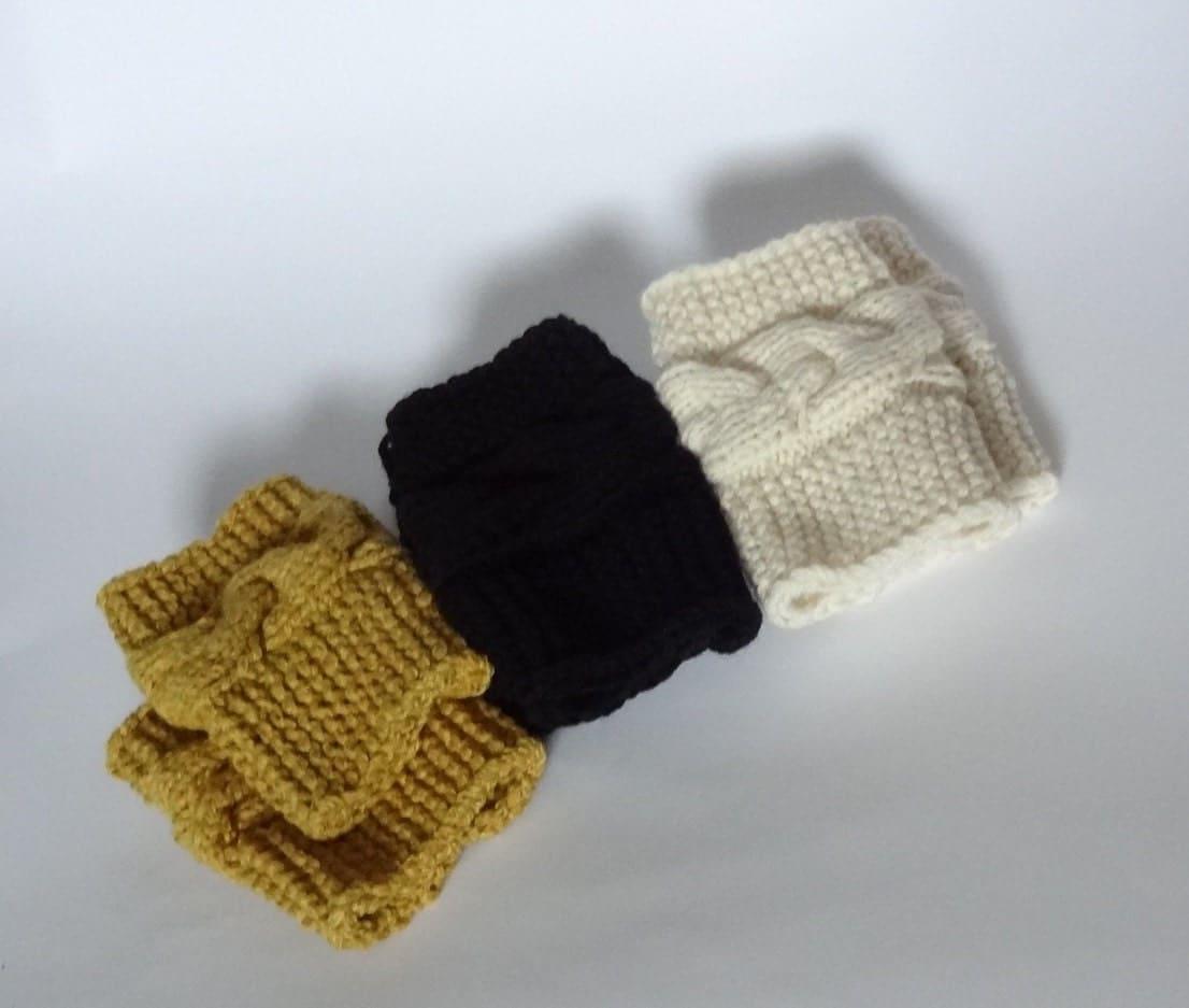 Knitting Pattern For Rubber Boot Socks : Knit Boot Socks Womens Knit Accessory Boot Accessory by ...
