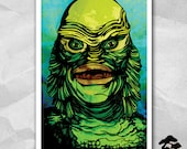 Creature From The Black Lagoon - 12 by 18 Inch Print - Gill Man