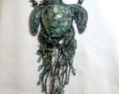 """Turtle Cay""""  created by Lynn Parpard One of a Kind Art Piece, Candelaria Turquoise necklace reserved for PG"""