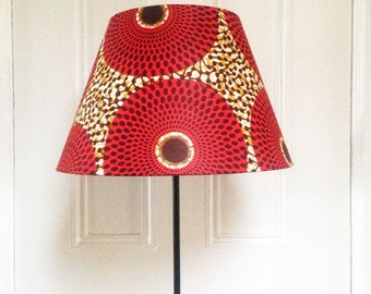 African Wax Print Lamp Ensemble