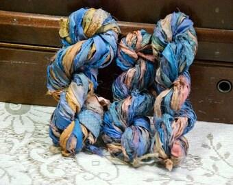 Sari Silk Ribbon - 5  Yards of Sandstone