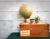 Vintage WOOD CRATE | Wooden Shipping Crate | Hamilton Beach Drinkmaster Shipping Box | Rectangular | Industrial Décor | Rustic Storage |