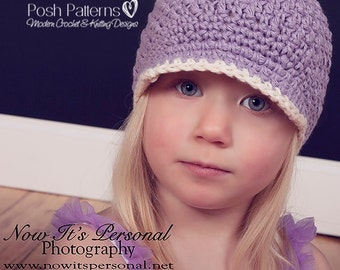Crochet PATTERN - Crochet Hat Pattern - Crochet Newsboy Hat Pattern - Crochet Patterns for Kids - Baby, Toddler, Kids, Adult Sizes - PDF 250
