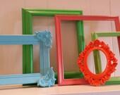 Eclectic Home Decor Vintage Frames, Ornate Painted Frames, Upcycled Frames,
