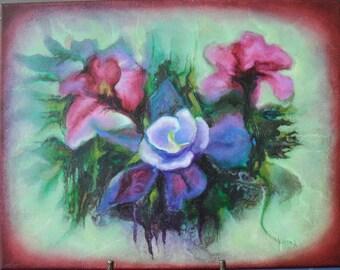 Original floral bouquet oil painting