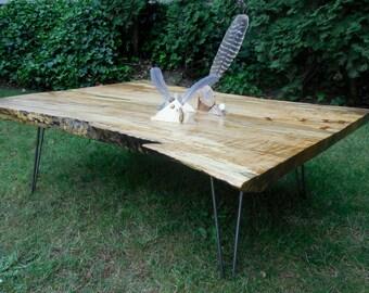 Figured Maple Coffee Table