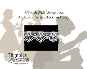 30% off while supplies last! 5 yards 3/4 inch  Venice Lace - Style C