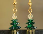 Swarovski Beaded Christmas Tree Earrings