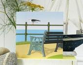 The Bench Card - Blank, British Seaside