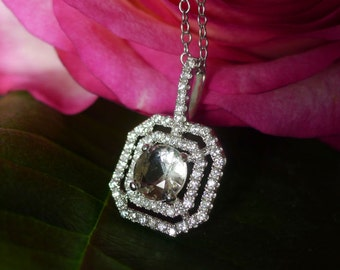 Herkimer Diamond Pendant Smokey Shades