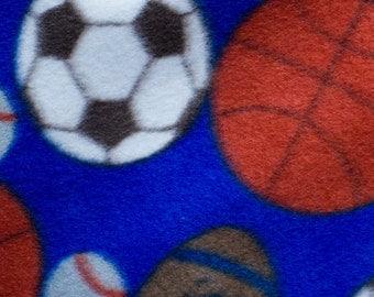 Sports Ball Print Anti Pill  Fleece Fabric by the yard