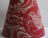Bird Garden Modern Tapered Drum Lampshade