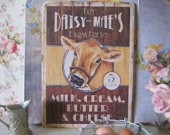 Daisy Milk Print/Sign for Dollhouse