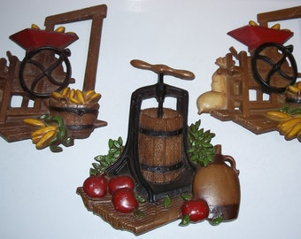 Vintage Kitchen Homco Wall Decor