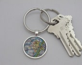Map Keychain - your favorite city