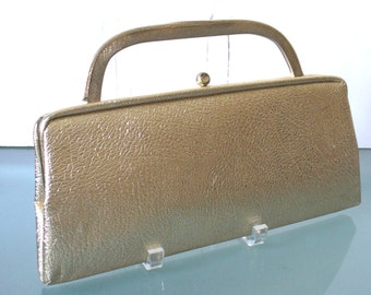 Vintage Metallic Gold  Long Clutch By Francine