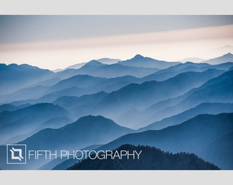Misty Mountains. Fine Art Giclée Canvas Wrap