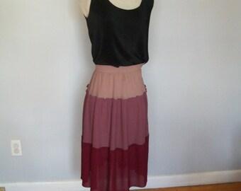 SALE 1960's Ombre Skirt- Sheer- Fall-High Waist (( Size Small to Medium))