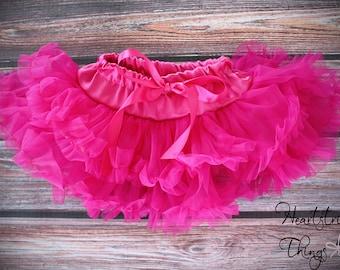 Pettiskirt, birthday skirt, cake smash skirt, tutu, hot pink tutu, ballerina tutu, ballet skirt, vintage skirt, fluffy skit, ruffle skirt