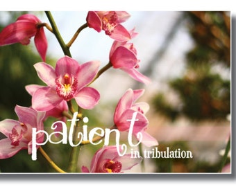 Rejoicing in Hope. Patient in Tribulation. Continuing instant in prayer. Romans 12 | 3 Panels or 3 Sets of Wall Art Scripture Canvas Art