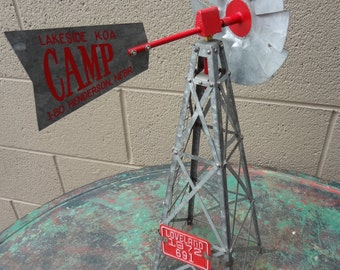 Miniature Tourist Windmill from Cross Country Roadtrip KOA Henderson Nebraska