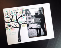 Personalized Family Tree Frame Custom Colours Wedding Gift Anniversary Gift Personalized Adoption Keepsake New Family Wood 4x6 Photo Frame