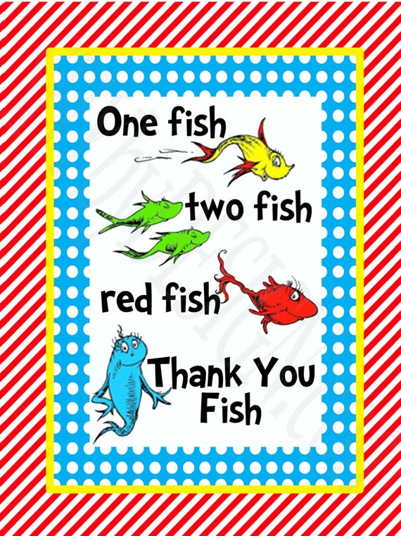 Satisfactory image inside one fish two fish printable