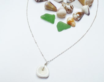 Sterling Silver Puka Shell Necklace Made in Hawaii