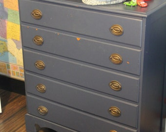 Vintage Chic Dresser Painted Navy By Foo Foo La La