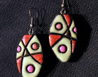 Eye-shaped earrings. Clearance Sale!!