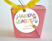 Personalized Happy Easter Favor Tag - DIY Printable Digital File