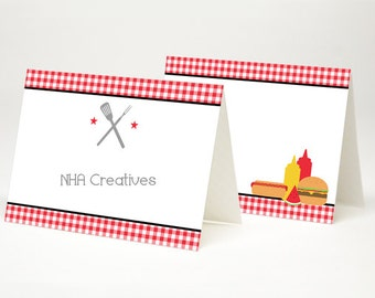Barbecue Place Cards - DIY Printable Digital File