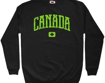 Canada Sweatshirt - Men S M L XL 2x 3x - Crewneck Shirt - Canadian - 4 Colors