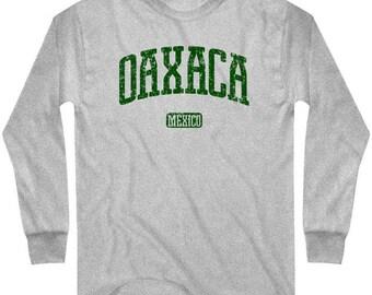 LS Oaxaca T-shirt - Long Sleeve Mexico Tee - Men and Kids - S M L XL 2x 3x 4x - 4 Colors