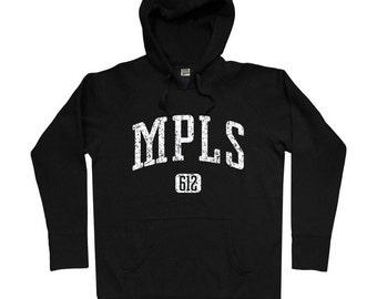 Minneapolis 612 Hoodie - Men S M L XL 2x 3x - Minneapolis Hoody Sweatshirt - Twin Cities, Minnesota - 4 Colors