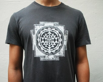 Sacred Geometry clothes, Organic Cotton Mens t-shirt, Small - Made to Order