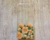 Orange Floral iPhone 5 or 5s case
