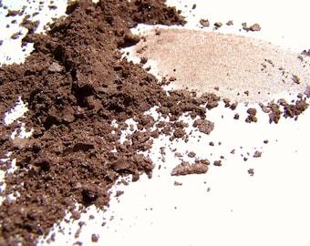 Mineral Makeup - Brown Satin Eyeshadow -  Mineral Eyeshadow - Brown PowdEyeliner  - Vegan Friendly Makeup