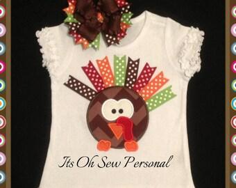 Ribbon turkey shirt with bow