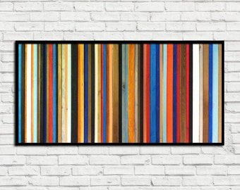 "Reclaimed Wood Art - ""Rio"" - Wood Wall Sculpture - Modern Wood Wall Art - Abstract Wood Art"
