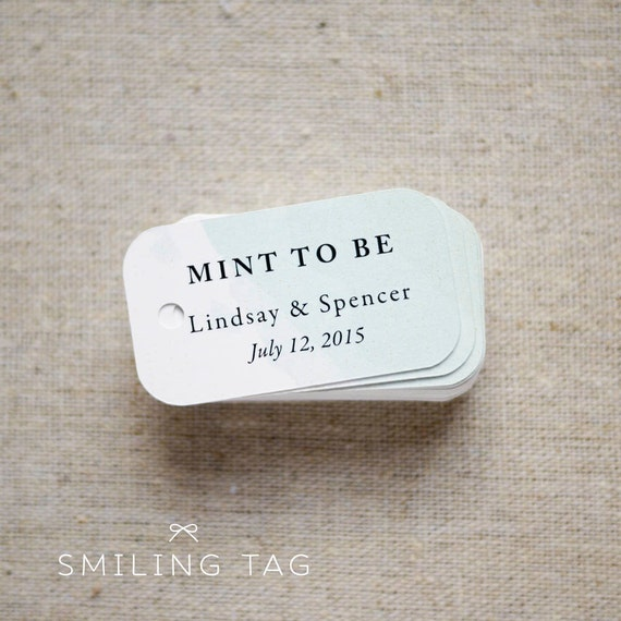Minted Wedding Gift Tags : Mint To Be Wedding Favor TagsPersonalized Gift TagsCustom ...