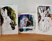 SALE!! Set of 5 blank greeting cards - sale on until friday 25th july midnight 2014 - lot 1