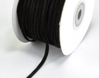 Black Velvet 1/8 Inch Ribbon by the Yard